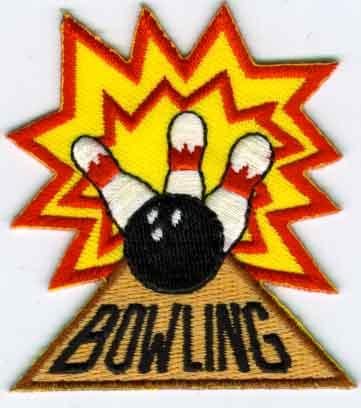 Bowling Ball & Pins-Iron On