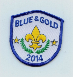 Blue and Gold 2014 Shield (Iron-On)