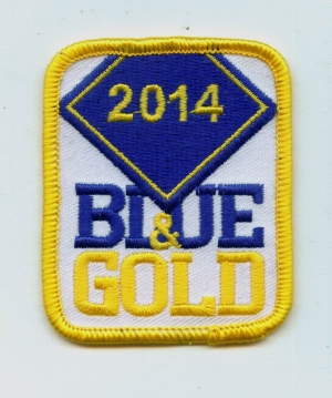 Blue & Gold 2014 Rectangle (Iron-On)