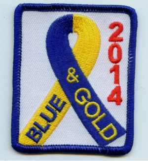 Blue & Gold 2014 Ribbon (Iron-On)